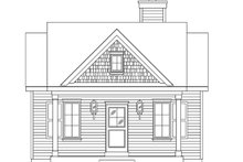 House Plan Design - Cottage Exterior - Front Elevation Plan #22-590