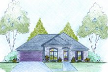 Dream House Plan - Traditional Exterior - Front Elevation Plan #36-497