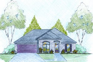 Traditional Exterior - Front Elevation Plan #36-497