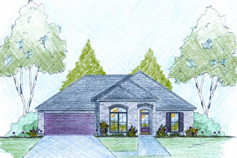 Traditional Exterior - Front Elevation Plan #36-497 - Houseplans.com
