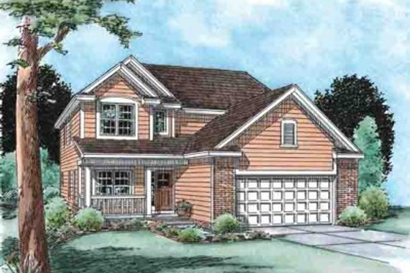 Traditional Exterior - Front Elevation Plan #20-1521 - Houseplans.com