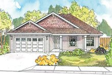 House Design - Country Exterior - Front Elevation Plan #124-593