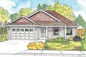 Country Exterior - Front Elevation Plan #124-593