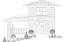 Dream House Plan - Contemporary Exterior - Front Elevation Plan #932-134