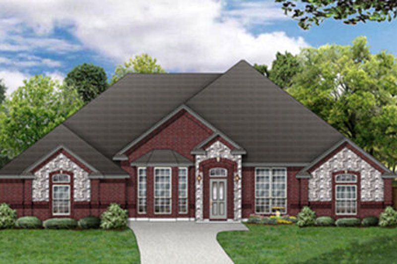 Traditional Exterior - Front Elevation Plan #84-487 - Houseplans.com