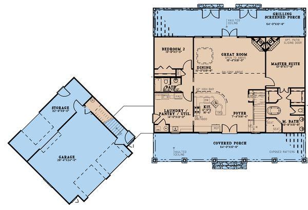 Dream House Plan - Country Floor Plan - Main Floor Plan #923-200