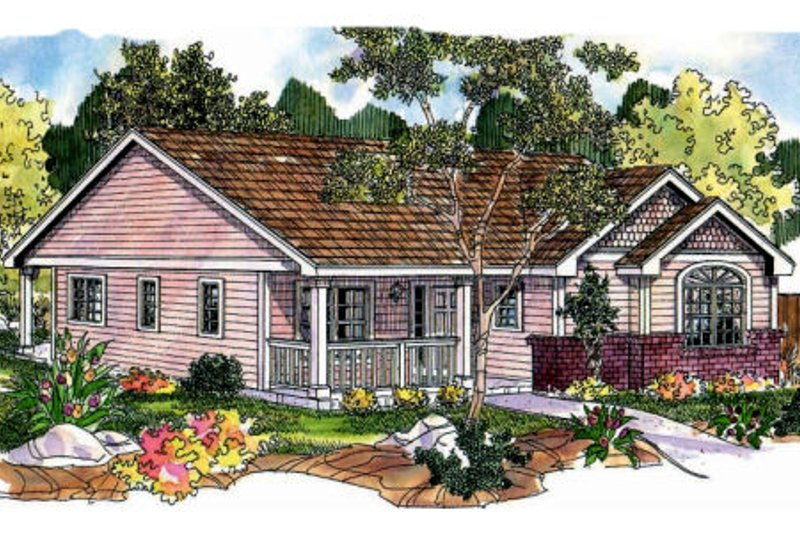 Farmhouse Exterior - Front Elevation Plan #124-697 - Houseplans.com