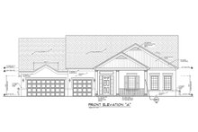 Ranch Exterior - Front Elevation Plan #1058-168