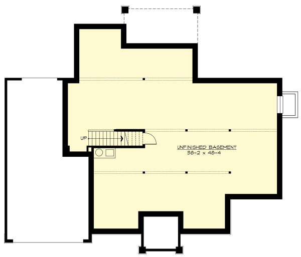 Craftsman Floor Plan - Lower Floor Plan Plan #132-570