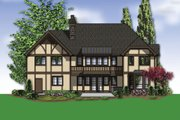 Tudor Style House Plan - 3 Beds 3.5 Baths 3560 Sq/Ft Plan #48-664 Exterior - Rear Elevation