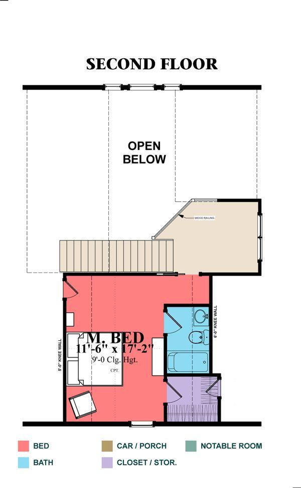 Cottage Floor Plan - Upper Floor Plan #63-354