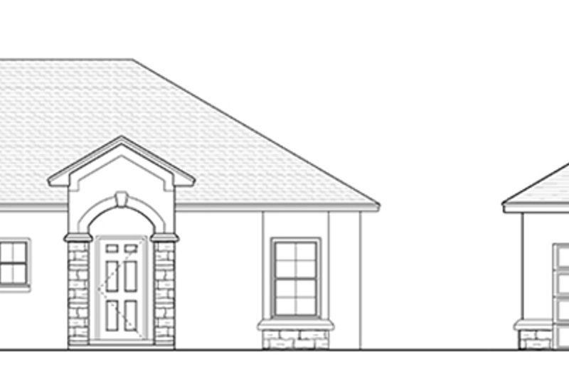 Mediterranean Exterior - Other Elevation Plan #1058-115 - Houseplans.com