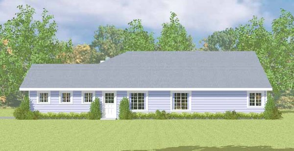 House Blueprint - Ranch Floor Plan - Other Floor Plan #72-1080