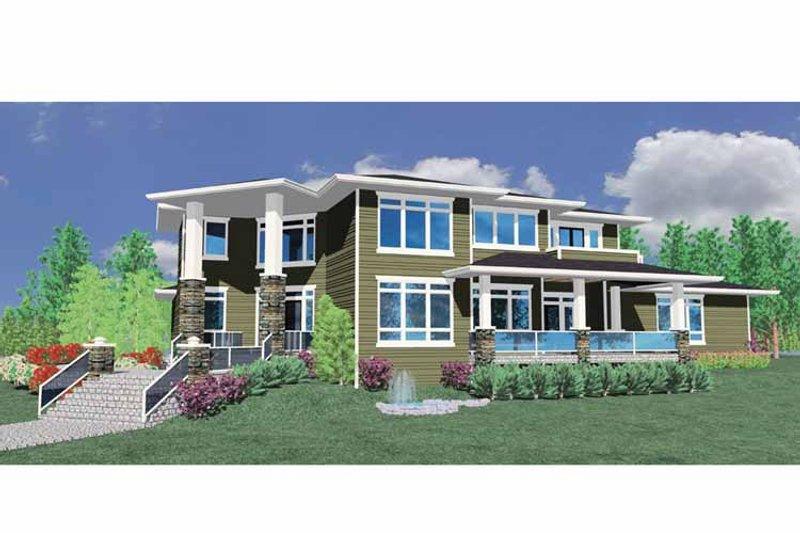 Prairie Exterior - Front Elevation Plan #509-427 - Houseplans.com