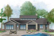 Prairie Style House Plan - 3 Beds 2.5 Baths 2115 Sq/Ft Plan #929-1001 Exterior - Rear Elevation