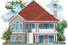 Home Plan - Mediterranean Exterior - Rear Elevation Plan #930-158