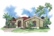 Mediterranean Style House Plan - 2 Beds 2 Baths 1727 Sq/Ft Plan #930-392 Exterior - Front Elevation
