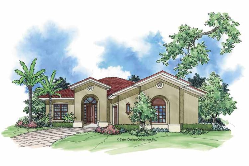 Mediterranean Exterior - Front Elevation Plan #930-392 - Houseplans.com