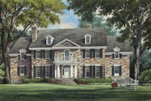 Colonial Exterior - Front Elevation Plan #137-357