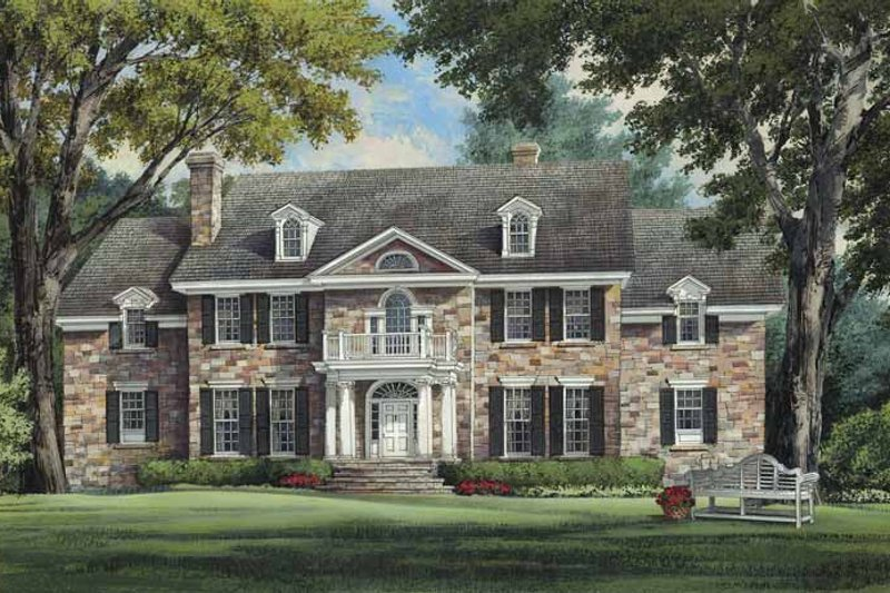 Architectural House Design - Colonial Exterior - Front Elevation Plan #137-357