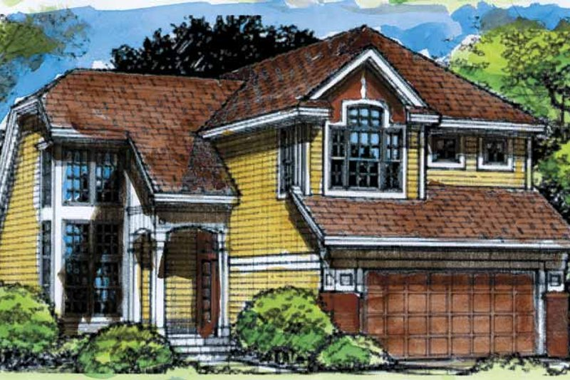 Home Plan - Contemporary Exterior - Front Elevation Plan #320-636