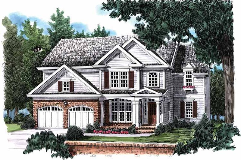 Country Exterior - Front Elevation Plan #927-808