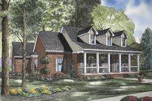Home Plan - Country Exterior - Front Elevation Plan #17-2834