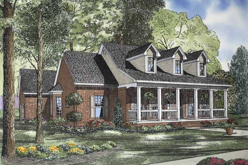 Country Exterior - Front Elevation Plan #17-2834