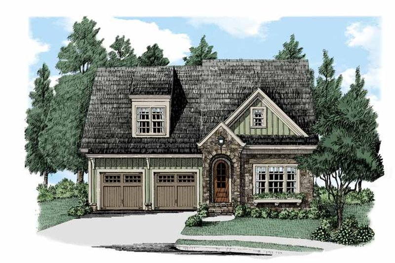Bungalow Exterior - Front Elevation Plan #927-504