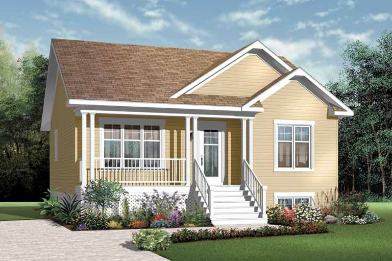 Country Exterior - Front Elevation Plan #23-2375