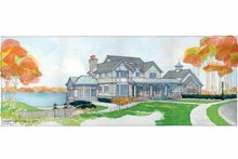 Classical Exterior - Front Elevation Plan #928-55
