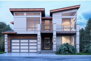 Contemporary Style House Plan - 4 Beds 4.5 Baths 3303 Sq/Ft Plan #1066-91 Exterior - Front Elevation