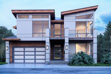 House Plan Design - Contemporary Exterior - Front Elevation Plan #1066-91