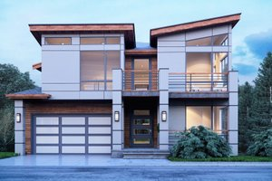 Contemporary Exterior - Front Elevation Plan #1066-91