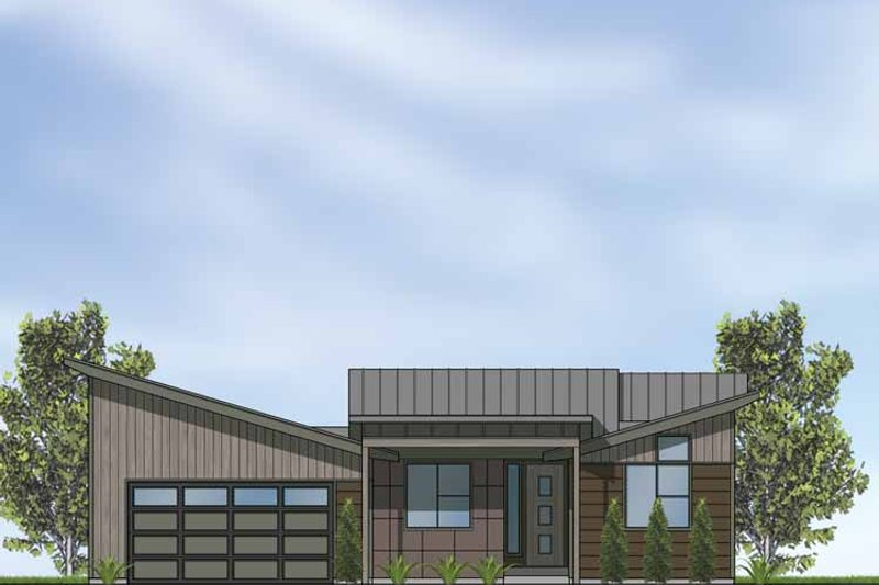 Contemporary Exterior - Front Elevation Plan #569-24