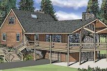 Log Exterior - Front Elevation Plan #314-211