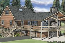 Architectural House Design - Log Exterior - Front Elevation Plan #314-211