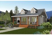 Cabin Style House Plan - 1 Beds 1 Baths 695 Sq/Ft Plan #126-216