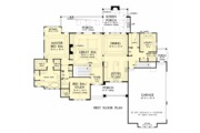 European Style House Plan - 4 Beds 4 Baths 3478 Sq/Ft Plan #929-1037 Floor Plan - Main Floor Plan