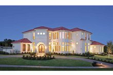 Dream House Plan - Mediterranean Exterior - Front Elevation Plan #952-196