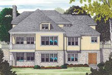 House Plan Design - Country Exterior - Rear Elevation Plan #453-452