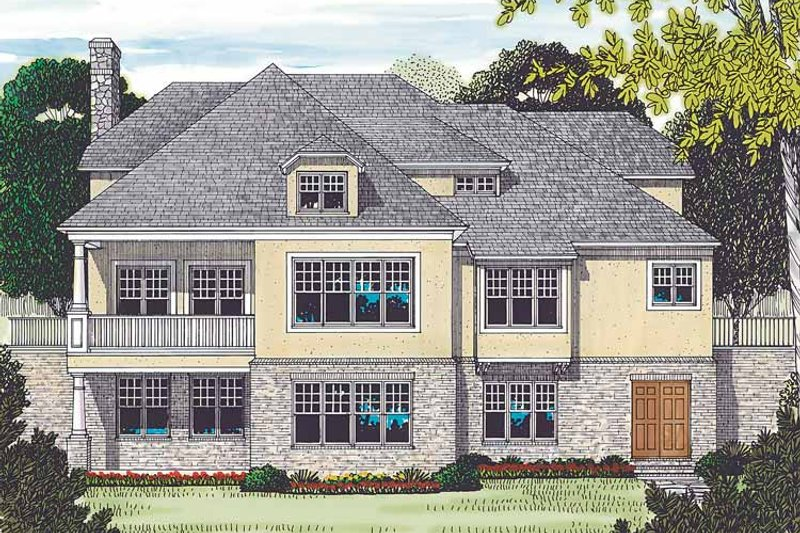 Country Exterior - Rear Elevation Plan #453-452 - Houseplans.com