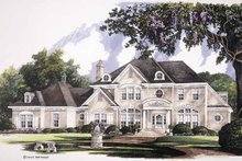 Classical Exterior - Front Elevation Plan #952-247