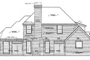 Tudor Style House Plan - 3 Beds 2.5 Baths 2452 Sq/Ft Plan #310-532 Exterior - Rear Elevation