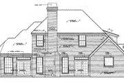Tudor Style House Plan - 3 Beds 2.5 Baths 2452 Sq/Ft Plan #310-532 Exterior - Rear Elevation