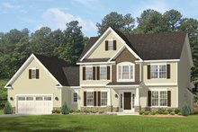 Colonial Exterior - Front Elevation Plan #1010-160