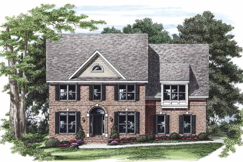 Colonial Exterior - Front Elevation Plan #927-470 - Houseplans.com
