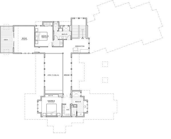 Dream House Plan - Craftsman style house plan, upper level floor plan