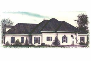 Country Exterior - Front Elevation Plan #15-321