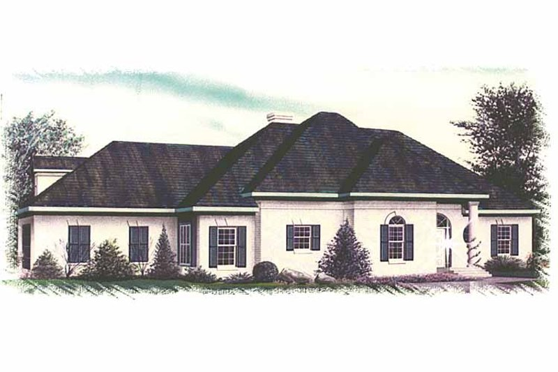 Country Exterior - Front Elevation Plan #15-321 - Houseplans.com
